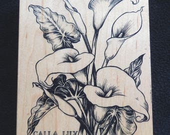 PSX K-1696 - Calla Lily - Retired Rubber Stamp (1)