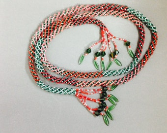 Anchorage Christmas Lariat Necklace