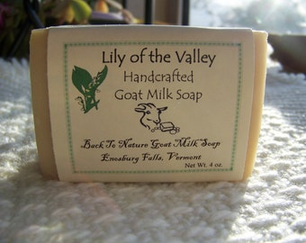 Lily of the Valley Goat Milk Soap/cold process/handmade