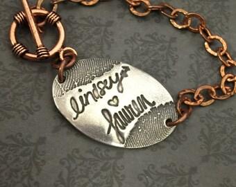 Signature Bracelet - custom actual handwriting Jewelry-Signature Jewelry- Handwriting & Signature Bracelet-Fingerprint Bracelet-Thumprint