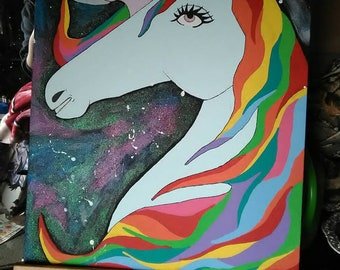 Glitter Unicorn 16 by 20