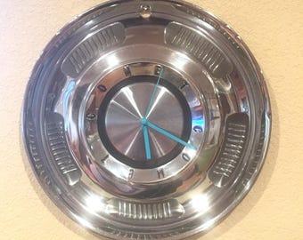 Mercury Comet Hubcap Clock 1960's
