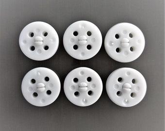 6 white 16 mm Plastic round pressure