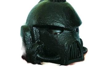 WARHAMMER 40k SPACE MARINE Inspired helmet cosplay larp roleplay costume head wear & free  full suit armor plans  patterns warcraft cosplay