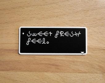 Sweet Fresh Feel - Earthbound Dialog Box