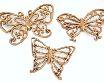 Mid Century Butterfly Wall Decorations 1970s Homeco Plastic Butterflies Wall Hangings
