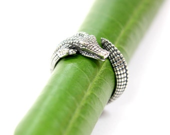 Sterling Silver Crocodile Ring Cayman Ring 458
