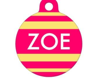 Personalized Pet ID Tag - Zoe Custom Name Pet Tag, Dog Tag, Cat Tag
