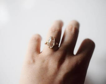14k Rose Gold Engagement Ring Unique Engagement Ring Uncut diamond ring Avello