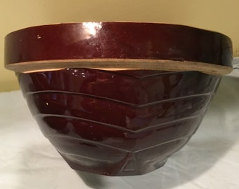"9"" Brown Stoneware Bowls Perfect Condition!!"