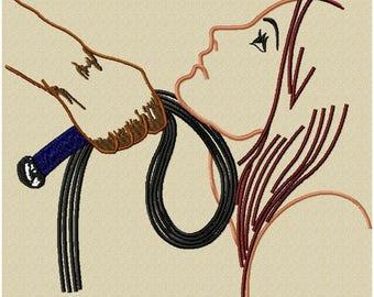 Submissive embroidery design