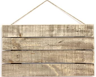 """10x18"""" Reclaimed Wood Pallet, Salvaged Rough Sawn Timber, Barnwood Blank Sign"""
