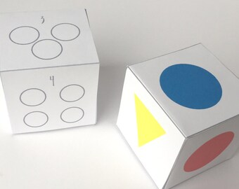 Learning Games for preschoolers, educational games, quiet toys, preschool colors game, paper dice, shapes game, indoor play for kids, class