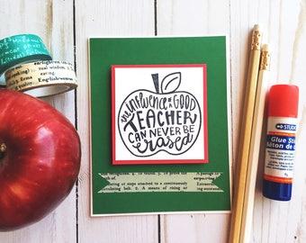 Teacher Card-Cards for Teachers-Handmade Teacher Cards-Teacher Gifts-Thank You Teacher-Thank You Teacher-Teacher Appreciation