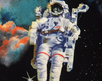 In Space--astronaut fabric by the yard--Elizabeth's Studio