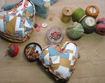 Crazy Quilted Heart Pillow DIY Kit