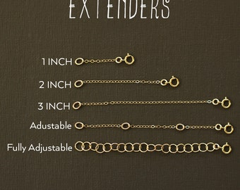 Necklace Extender - Extenders in Gold Fill, Rose Gold Fill and Sterling Silver