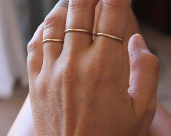Ring and delicate, simple gold plated, gold ring