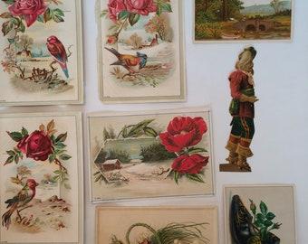 Vintage Miscellaneous Victorian Ephemera Card lot