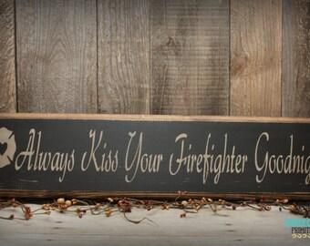 Firefighter gift for him, Firefighter wife, Firefighter Decor, Firefighter Sign
