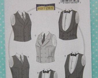 Cheapest Shipping. Men's Vests Costume Pattern.  Butterick  6339. Victorian, Edwardian,Tuxedo Vest Costume Pattern.Size:Xlg-XXXL New Uncut