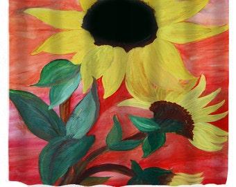 Giant Sunflower Art Shower Curtain