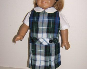 18 inch doll  school uniform jumper plaid 5B