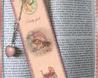 "Laminated bookmarks ""Baby girl"""