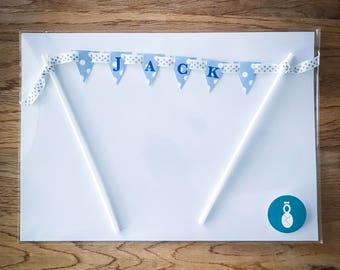 Personalised Peter Rabbit Themed Cake Bunting Topper