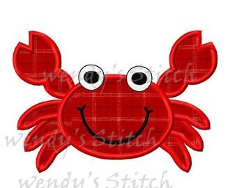 Crab applique machine embroidery digital design pattern
