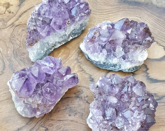 Large Amethyst Crystal Cluster  - Perfect for Healing Grids and Terrariums 499