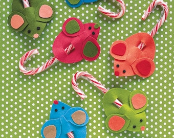 Candy Cane Mice ~ Set of 12