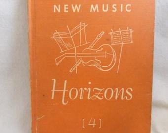 Vintage Mid Century School Music Text Book New Music Horizons Book 4