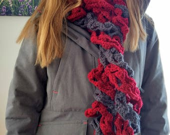 Scarf, one of a kind extra large and very warm candy cane scarf.