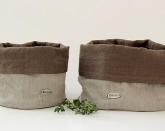 CINNAMON linen basket