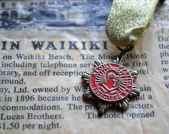 Vintage Hawaiian Medal, Aloha Festivals, King Kamehameha, 1946-1996, Vintage ALOHA FESTIVALS 50th Anniversary Medal, Hawaii, Anniversary Pin