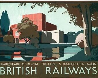Vintage British Rail Stratford on Avon Railway Poster A3/A2/A1 Print
