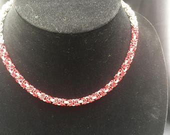 Byzantine Necklace with Red Highlights