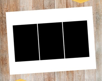 add on, photo collage, 3 photo collage, back design to any card, your choice of color, 3 photos,