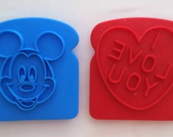 Mickey Mouse and I Love You Toast/Bread Press or Cookie Cutters