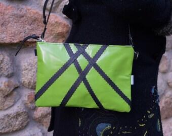 Leather bag,green bag,leather purse,green leather purse,green leather bag,zippered bag,leather purse,crossbody bag,green handbag,clutch