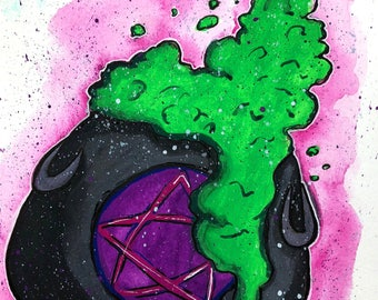 Witches Cauldron Original Painting