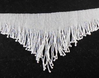 Fringed Choker Necklace - AB White