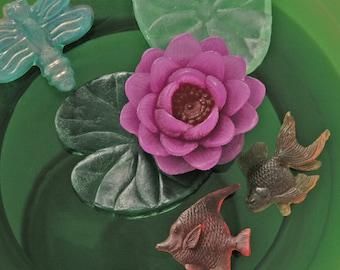 Lily Pond Glycerine Soap Set - Decorative Soap - Gift Soap - Vegan Soap