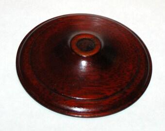 Wood Vase Cap Lamp Mahogany/Rosewood Finish