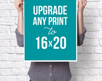 CHANGE : Change your 8x10 print to a 16X20 by purchasing this listing in addition to your order