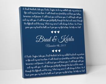 Wedding Decor, Wedding Vow Art, For Him, For Her