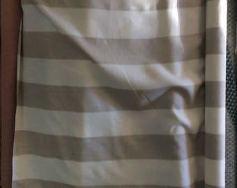 "Linen stripes 5"" wide, Natural/Ivory Livingston multipurpose fabric"