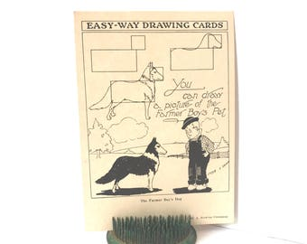 Vintage Dog Drawing, How To Draw, Illustrations