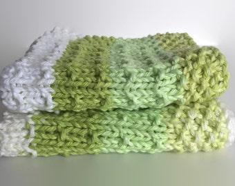 Knit dishcloth / crochet dishcloth / ready to ship / cotton dishcloth / natural cleaning / crochet washcloth / hostess gift / dishrag / boho